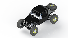 Pro Chassis ISO View Black Panel Render