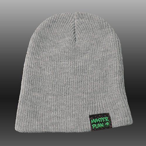 Basic Logo Slouch Beanie - Heather Gray