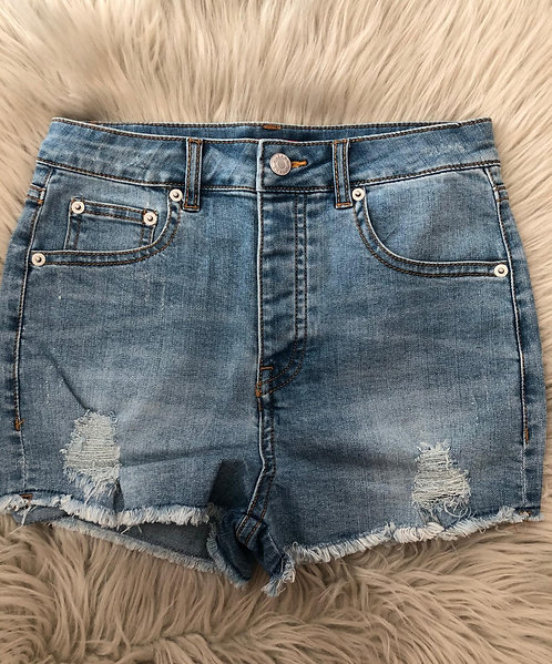 Navy Top/Shorts Jeans