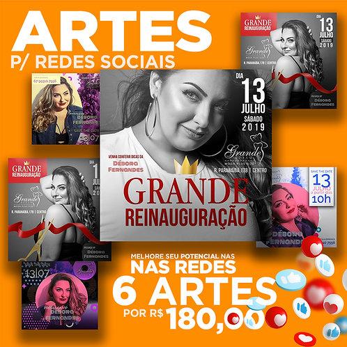 Pacote de 6 Artes Para Redes
