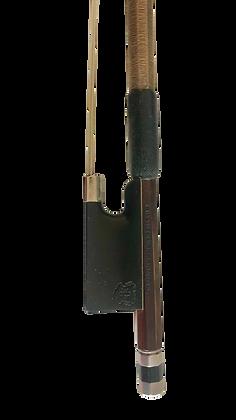 antiker 4/4 Geigenbogen Carl-Otto Dürrschmidt, silbermontiert