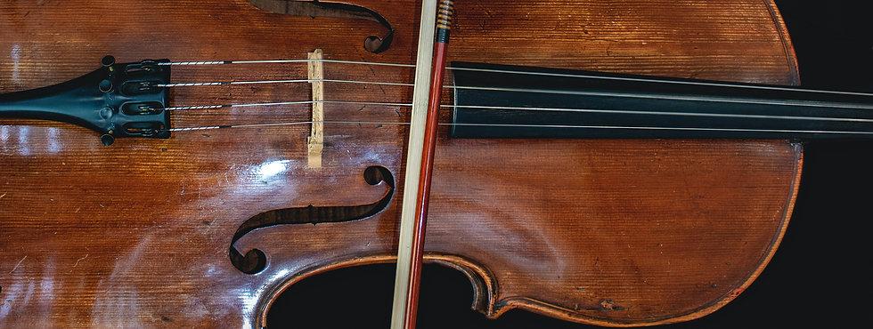 Cello Nahaufnahme der Saiten