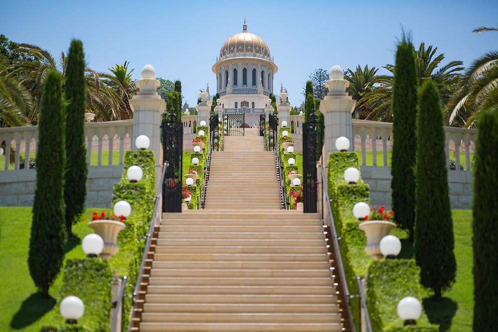 O Santuário do Báb, em Haifa (Israel). Copyright © Bahá'í International Community