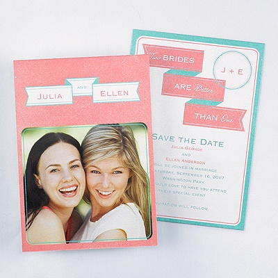Lesbian Save the Date Cards