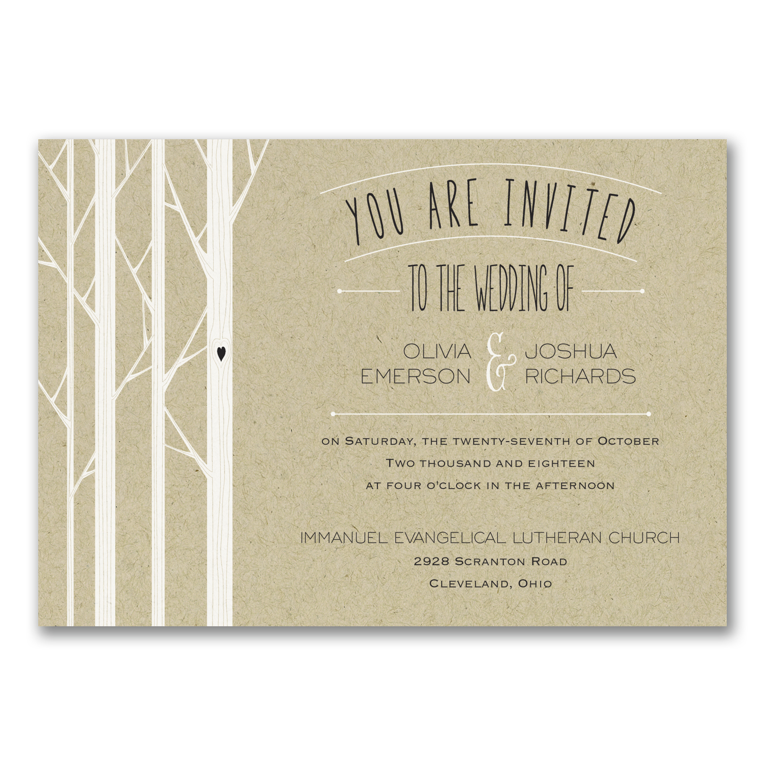Woodsy Wedding Invitation