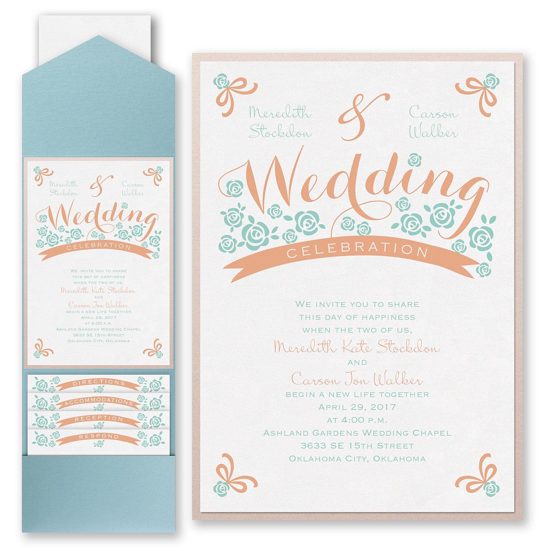 columbus wedding and corporate invitations | blue daisy design, Wedding invitations