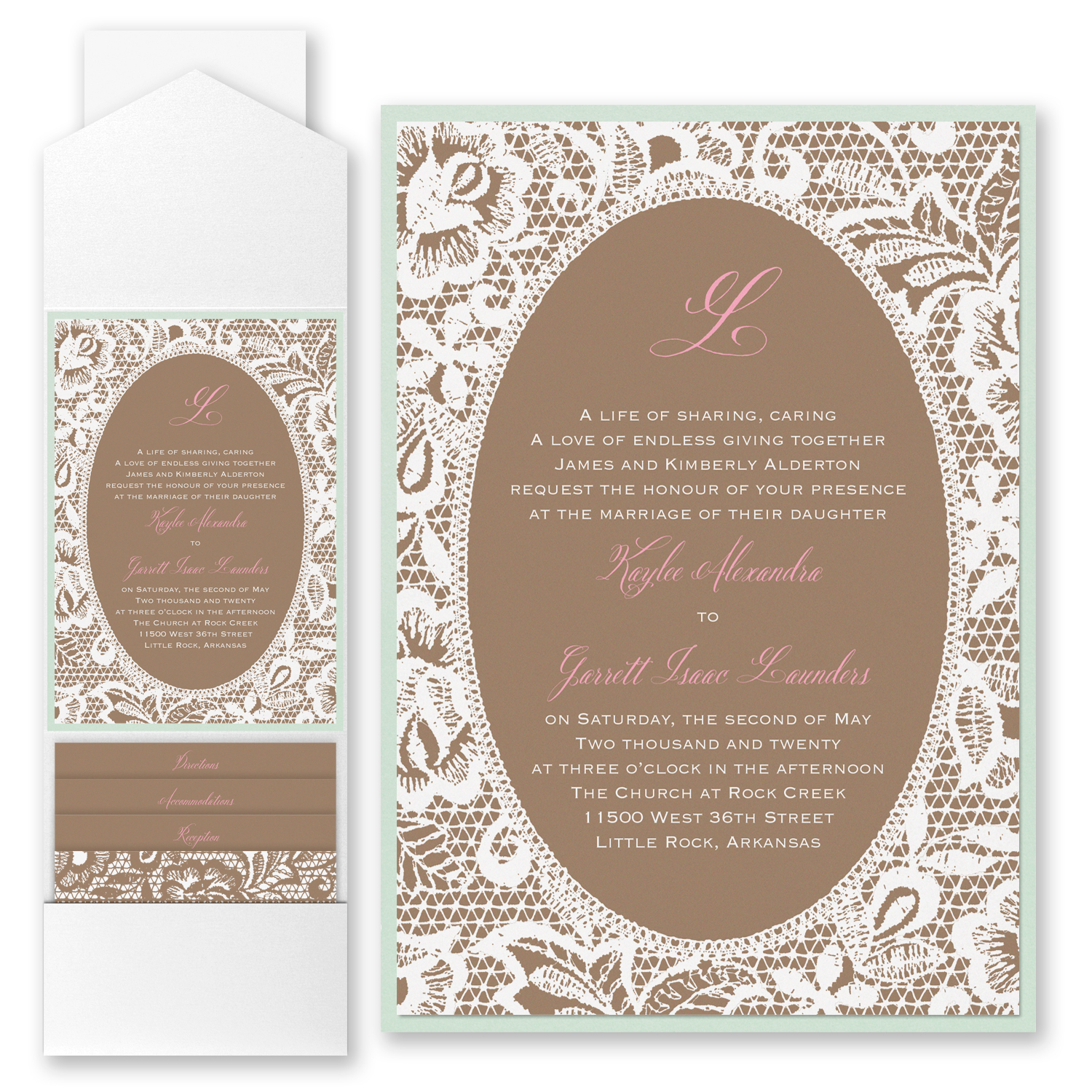Lace Pocket Invitation