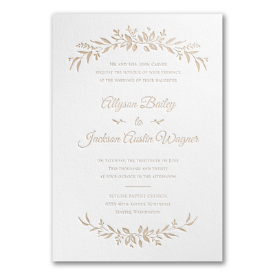 Sophisticated Flower Wedding Invite