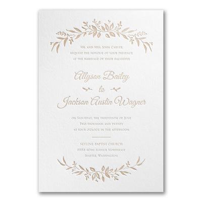 Sophisticated Flower Wedding Invite