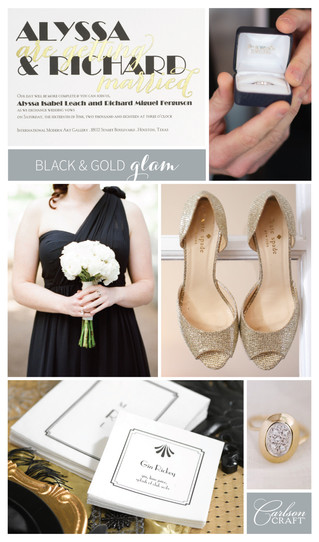 Modern and Glam Wedding Invitations