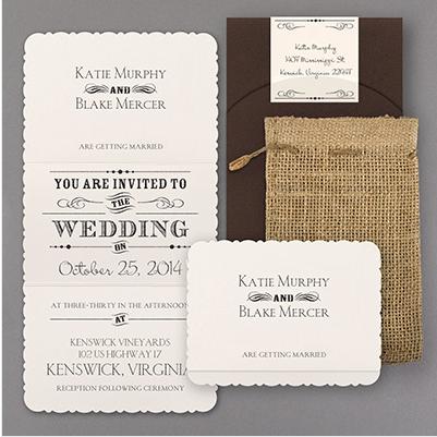 Vintage Rustic Wedding Invitation