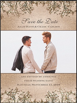 Same Sex Save the Date Cards