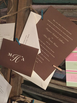 Brown Custom Wedding Invitation