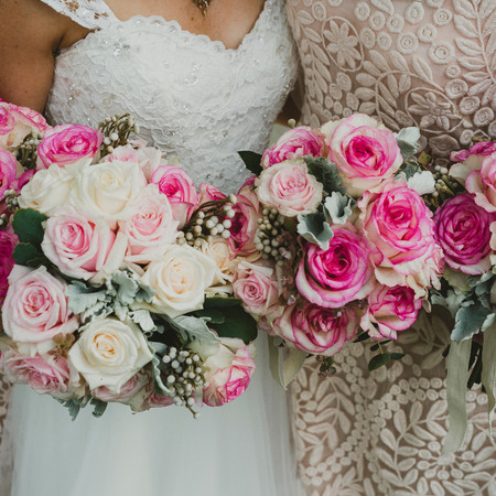 Roses and guipure lace
