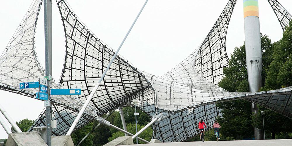 Dach des Olympiastadions