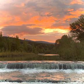 Abendrot am Santerno Fluss