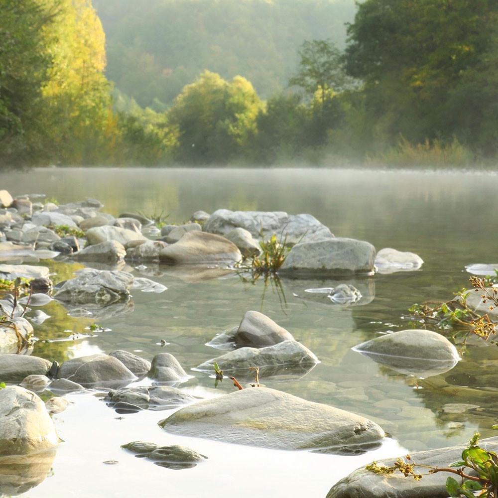 Morgennebel am Santerno Fluss