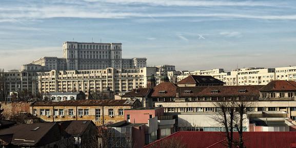 Blick auf den Präsidentenpalast, Bukarest