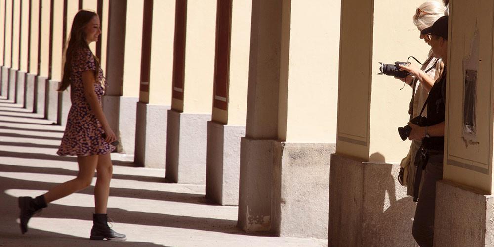 Schattenspiel im Hofgarten