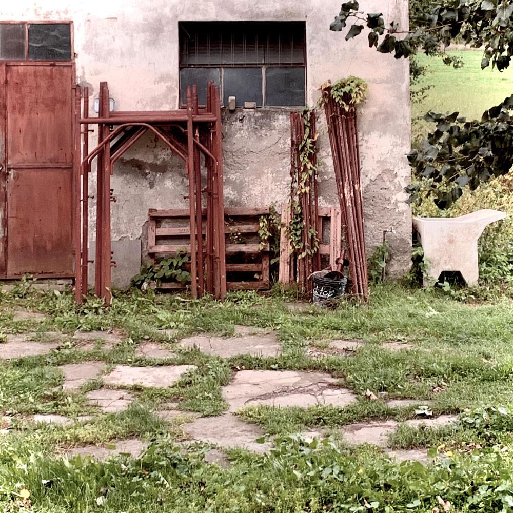 malerischer Hinterhof
