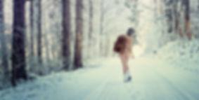 Aktfotografie im Schnee, Aktmodell, Natur, Schnee, Akt im Winter