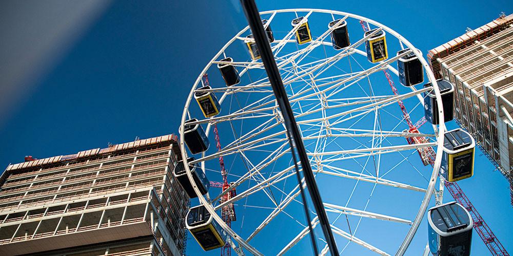 Hi-Sky Riesenrad, Spiegelung