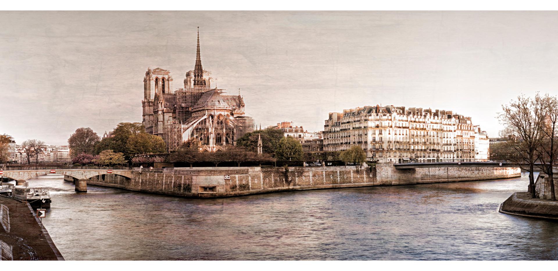 Notre Dame Along the Seine