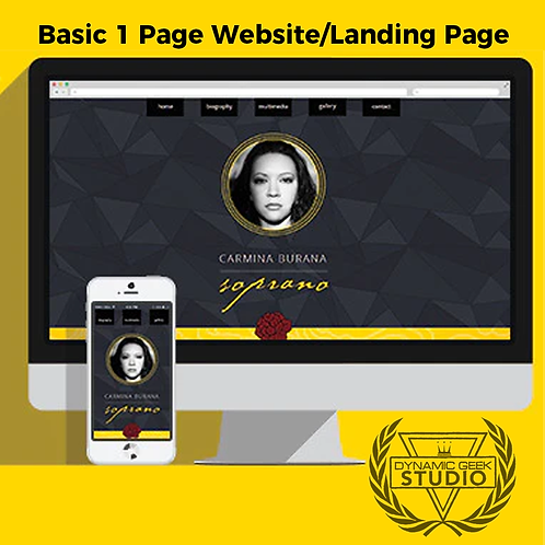 BASIC 1 page website/landing page