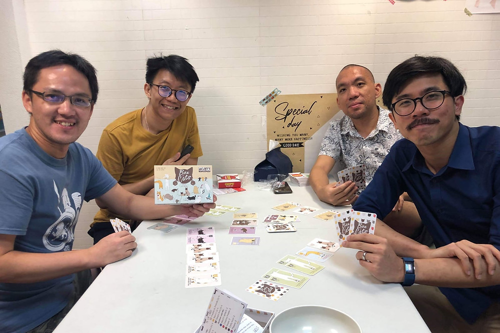 On the left, Smoox from Taiwan Boardgames Design