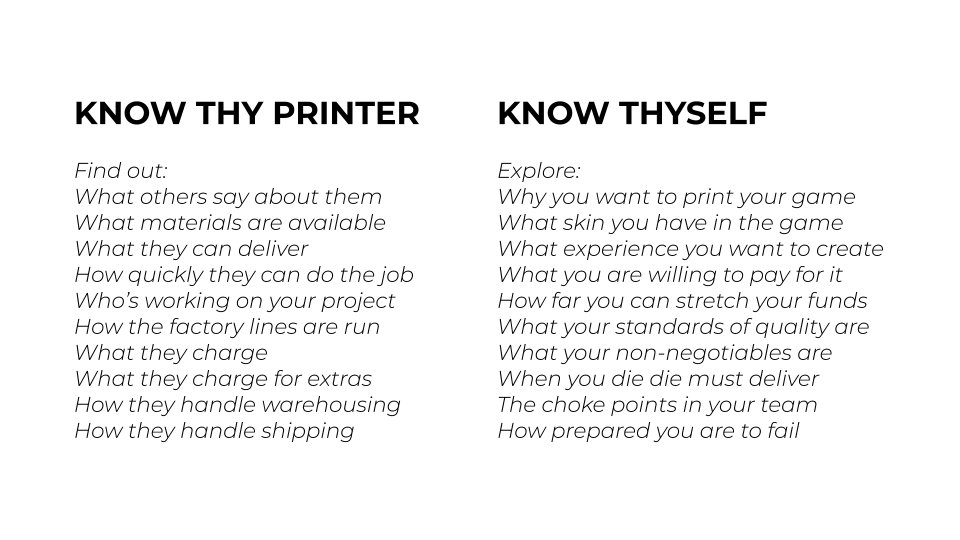 Know thy printer, know thyself