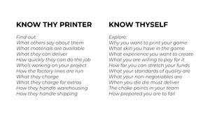 Know thy printer, know thyself