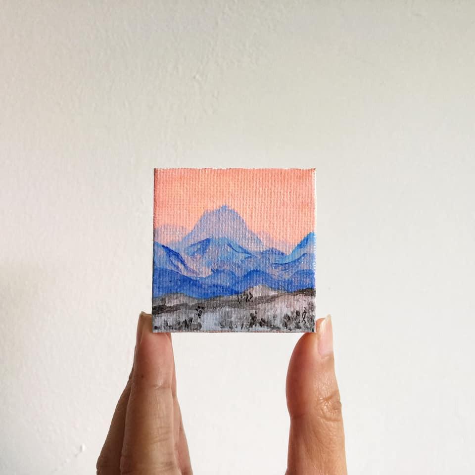 miniature mountains