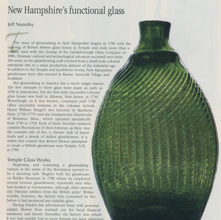 Well, that college education had to lead to something!  Mom and Dad are happy that I still use some of my writing chops to create articles on varying glass topics.