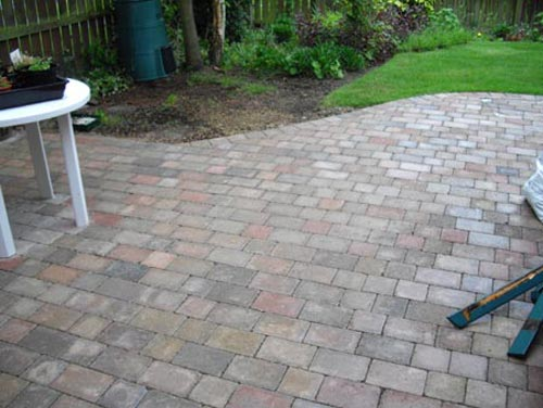 Garden block patio