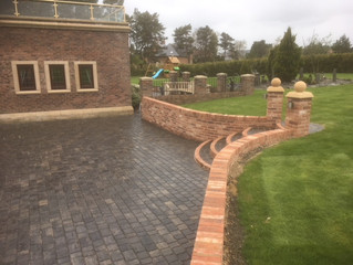 Extended driveways adds the finishing touches to million pound house