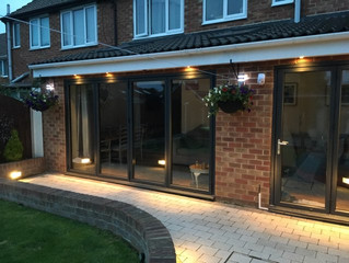 Completed patio area for long summer nights