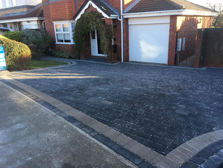 Expanded driveway on Walkworth Drive, Waldridge for 4 cars!