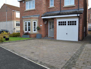 Solving off street parking with 3 driveways
