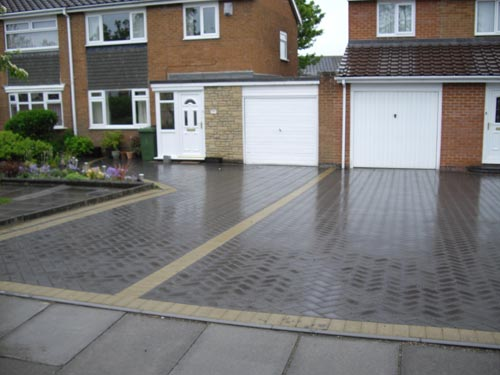 wetlook driveway blocks