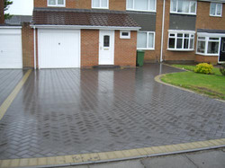 large double driveway