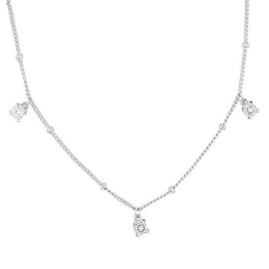 Collar Multistone Silver