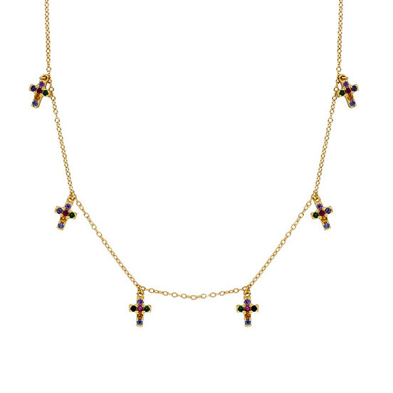 Collar Multicolor Cross