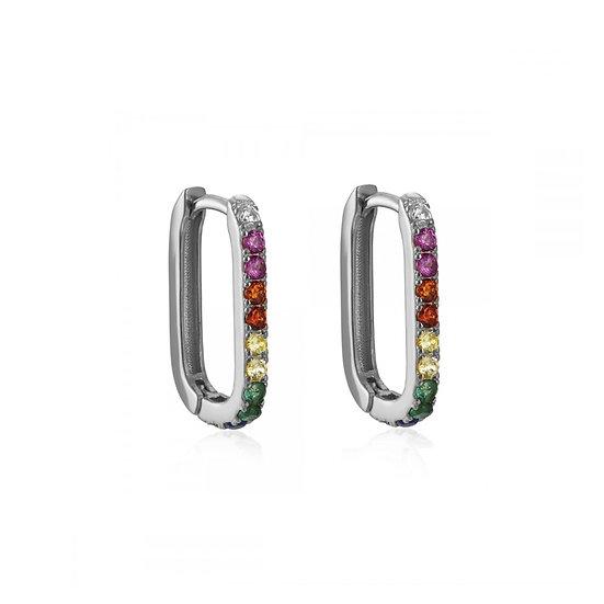 Pendientes Ari Rainbow Silver