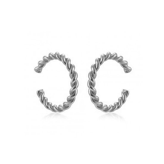 Earcuff Curly Silver