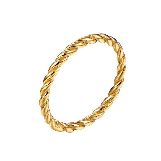 Anillo Golden Braid
