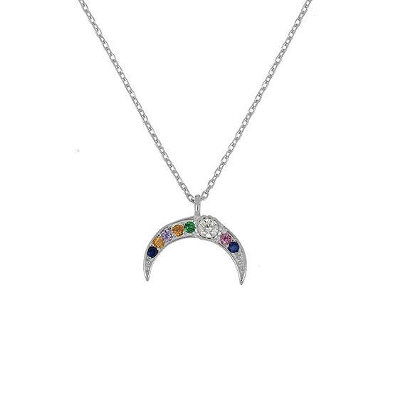 Collar Spring Moon Silver