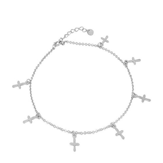 Tobillera Multicross Silver