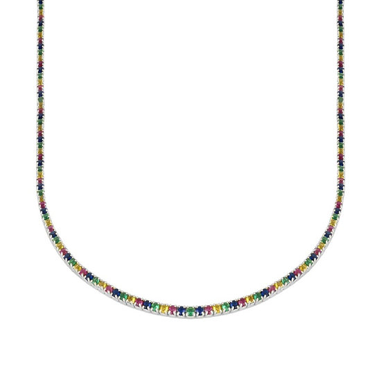 Collar Diamond Rainbow