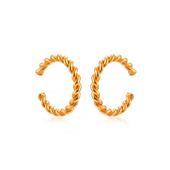 Earcuff Curly Gold
