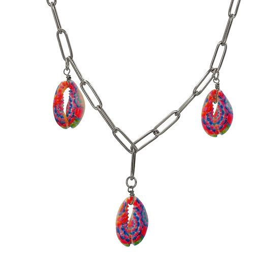 Collar Tie-Dye Ocean Silver